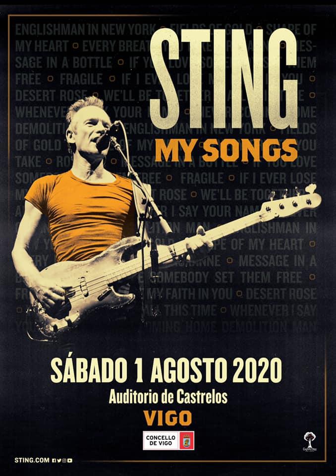 Gira Sting my songs en Vigo