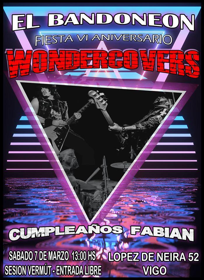 Cartel de la Sesión Vermut con Wondercovers en Vigo