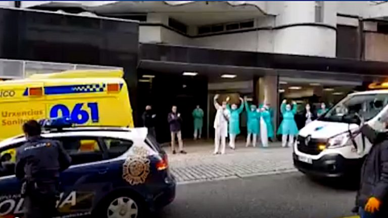 Homenaje de La Policía de Vigo en Povisa
