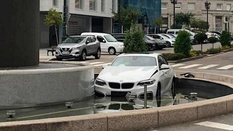 Coche aparcado en la Ciberfuente   Sucesos