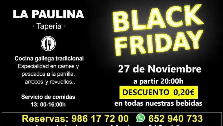 El Black Friday llega a la tapería La Paulina