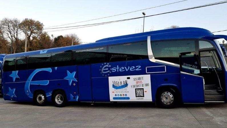 Autobuses Estevez Avión y Vigoplan invaden la ciudad