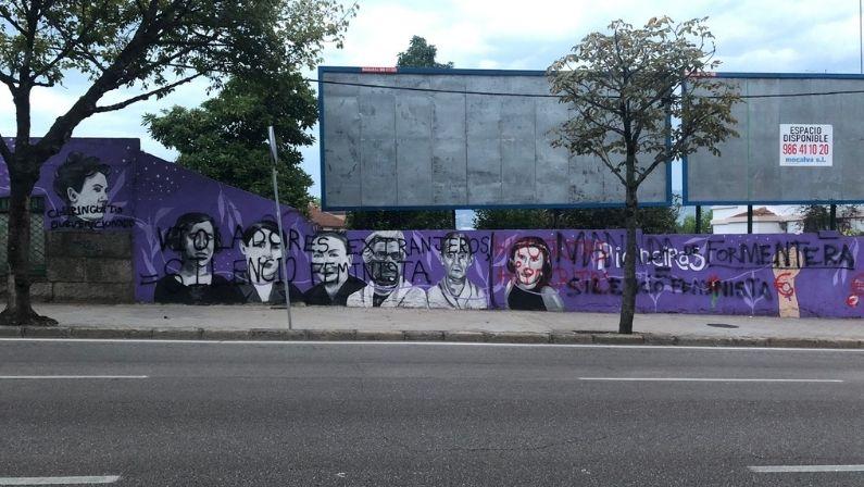 Vigoplan   Nuevo Ataque Al Mural Feminista De La Gran Vía De Vigo